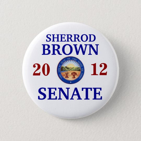 SHERROD BROWN FOR SENATE PINBACK BUTTON