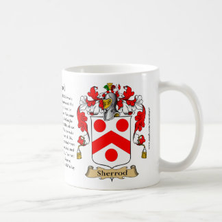 Sherrod, the Origin, the Meaning and the Crest Classic White Coffee Mug