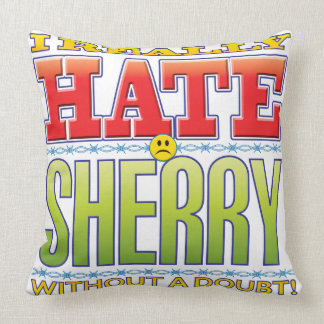 Sherry Hate Face Throw Pillow