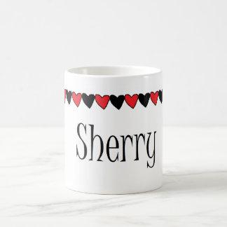 Sherry Hearts Name Mugs