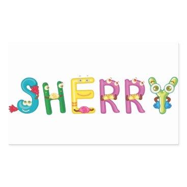 Beach Themed Sherry Sticker