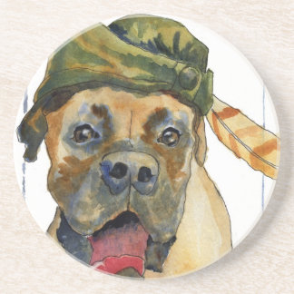 Sherwood Boxer Dog Drink Coaster