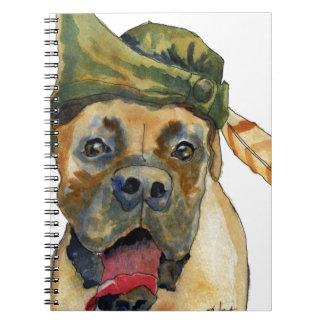 Sherwood Boxer Dog Spiral Notebook