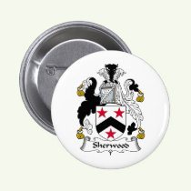 Sherwood Family Crest Button