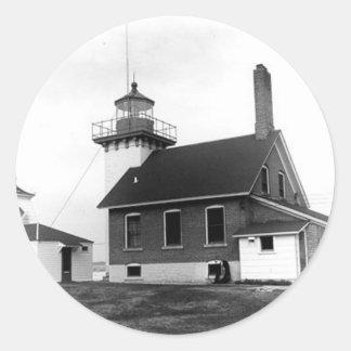 Sherwood Point Lighthouse Classic Round Sticker