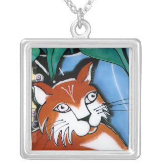 Sheryl's Cat Square Pendant Necklace