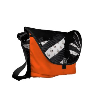 Shes A Mess Zebra Metal Paint Splatter Bag