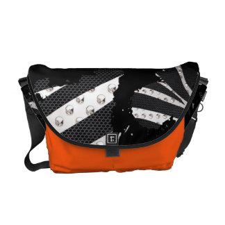 Shes A Mess Zebra Metal Paint Splatter Bag Courier Bag