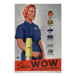 She's a WOW Posters