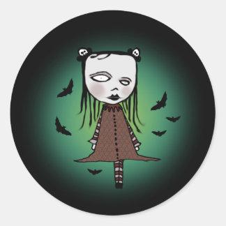 She's Batty Classic Round Sticker
