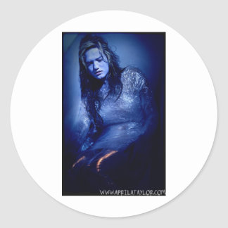 She's Dead by April A Taylor Round Sticker