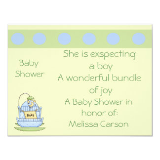"She's Exspecting Baby Shower Invites 4.25"" X 5.5"" Invitation Card"