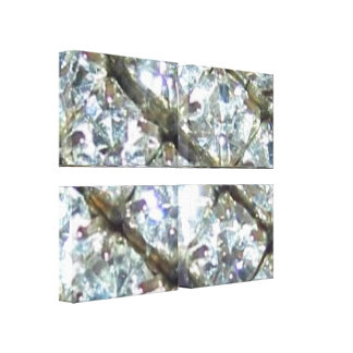 She's Got Shiny Bling Stretched Canvas Print