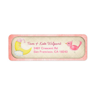 She's Here! Pink Baby New Arrival Address Labels