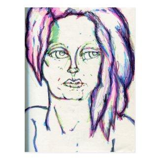 She's in Color Postcard