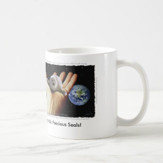 """""""SHE'S IN OUR HANDS"""" HARP SEAL Mug"""