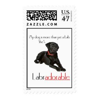 She's Labradorable Postage Stamp