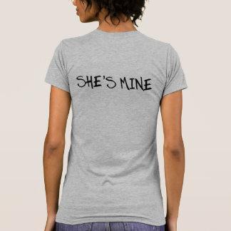 SHE'S MINE. I'M HERS. LESBIAN WEDDING SHIRTS. T-Shirt