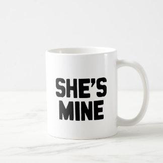 SHE'S MINE CLASSIC WHITE COFFEE MUG