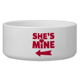 She's mine pet food bowls
