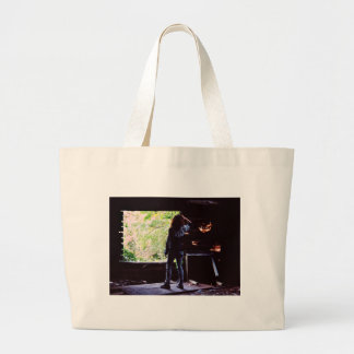 She's on Fire Large Tote Bag
