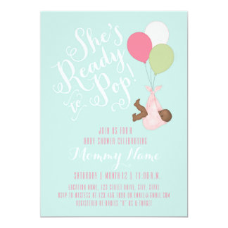 She's Ready To Pop! Shower Invitation