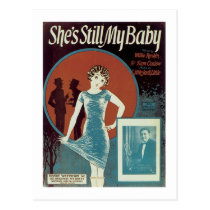She's Still My Baby Songbook Cover Postcard