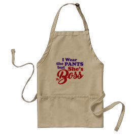 She's the BOSS-3 Adult Apron