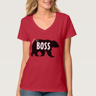 Shes the Boss Grizzly Bear Silhouette Shirt
