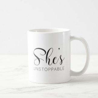 She's Unstoppable Coffee Mug