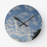 She's watching over you! round wallclocks