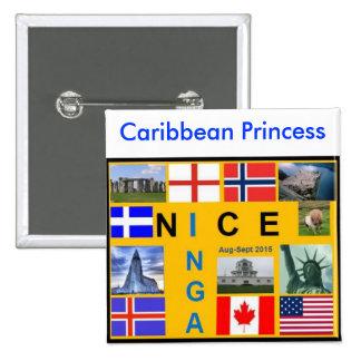 Shetland Flag Button