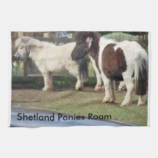 Shetland Ponies Roam Kitchen Towels