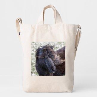 Shetland Pony Bag Duck Canvas Bag