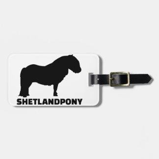 Shetland Pony Bag Tag