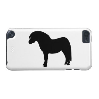 Shetland pony black silhouette ipod touch 5G case, iPod Touch (5th Generation) Cover