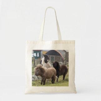 Shetland pony colts playing - Useful bag
