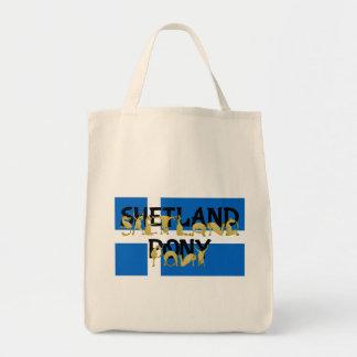 Shetland Pony Grocery Tote Bag