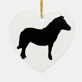 Shetland Pony. Ceramic Heart Decoration