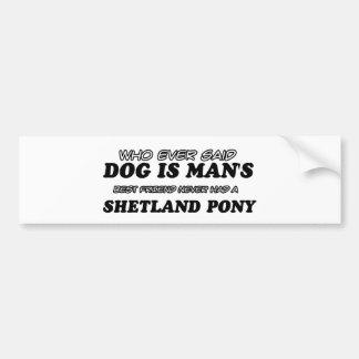 Shetland Pony  pet designs Bumper Sticker
