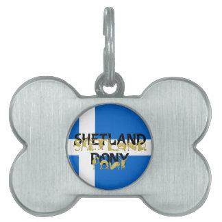 Shetland Pony Pet Tags