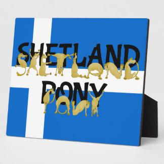 Shetland Pony Photo Plaque