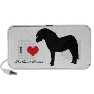 Shetland pony silhouette portable doodle speakers