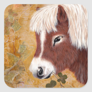 Shetland Pony Square Sticker