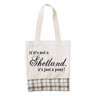 Shetland pony zazzle HEART tote bag
