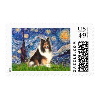 Shetland Sheepdog 15s - Starry Night Stamp
