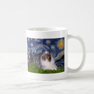 Shetland Sheepdog 17 - Starry Night Classic White Coffee Mug