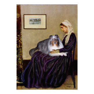 Shetland Sheepdog 17 - Whistlers Mother Print