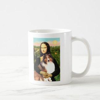 Shetland Sheepdog 7b - Mona Lisa Classic White Coffee Mug
