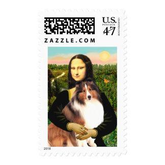 Shetland Sheepdog 7b - Mona Lisa Postage